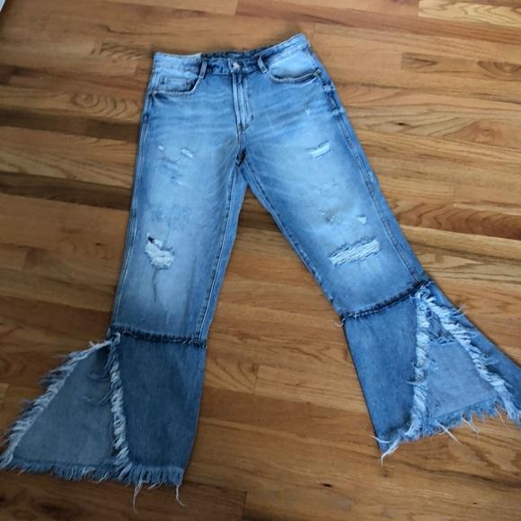2c327432 Zara Jeans | Trafaluc Denimwear Destroyed Girlfriend | Poshmark